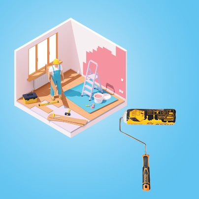 Persona construyendo